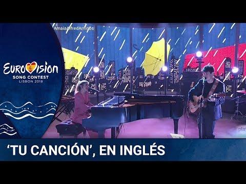 Amaia y Alfred cantan 'Tu Canción' en inglés ('Your song')   Amaia, Alfred y Amigos