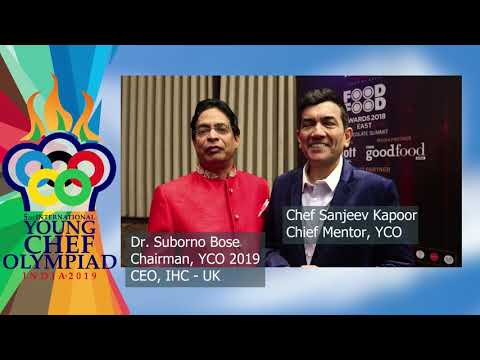 Sanjeev Kapoor & Dr. Suborno Bose welcomes Participants for Young Chef Olympiad 2019