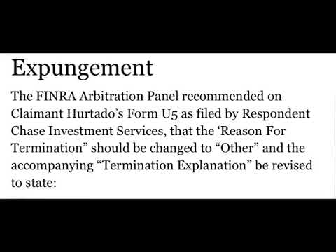 u5 form Forbes com FINRA Expungement Granted FINRA Form U5 Expungement - YouTube