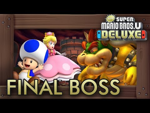New Super Mario Bros. U Deluxe: Final Boss with BLUE TOAD & Peachette + Ending