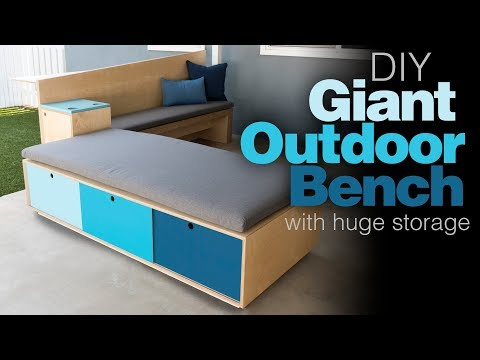 Outdoor Storage Bench / How To Build Patio Furniture / Woodworking