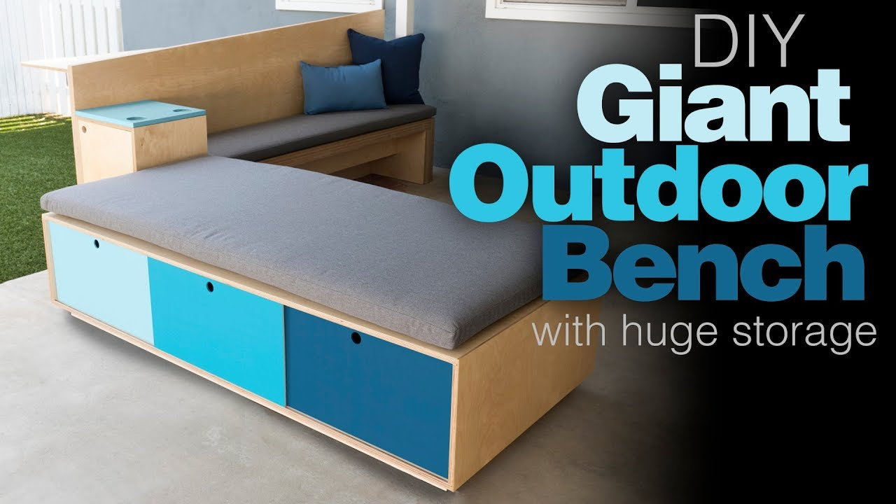 Outdoor Storage Bench How To Build Patio Furniture Woodworking