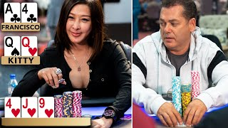 Kitty Kuo put to the ULTIMATE TEST in No Limit Texas Hold'Em ♠ Live at the Bike!
