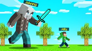 FIGHTING JOHNNY THE GIANT MINECRAFT BOSS!