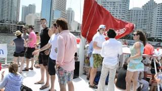 [VIDEO] SocialBuzzTV - 1st annual BrickTWN.com Catamaran Party Fundraiser at Sea