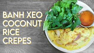 Vietnamese Crêpes Vegan & Gluten-free Recipe | Bánh Xèo Chay
