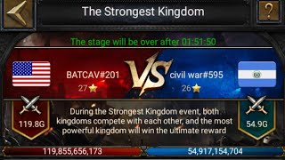 Clash of Kings - 201 vs 595 - It's Me defending rallies as usual 😂👌 - Kingdom Conquest