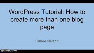 WordPress Tutorial: Hoe maak je meer dan één blog pagina