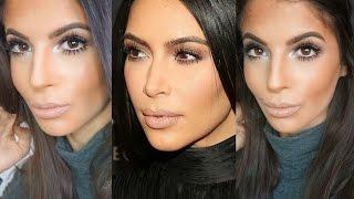 Kim Kardashian Makeup Tutorial 2015 | Neutral Eyes & Nude Lips