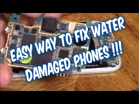 How to fix samsung phone dropped in water not working