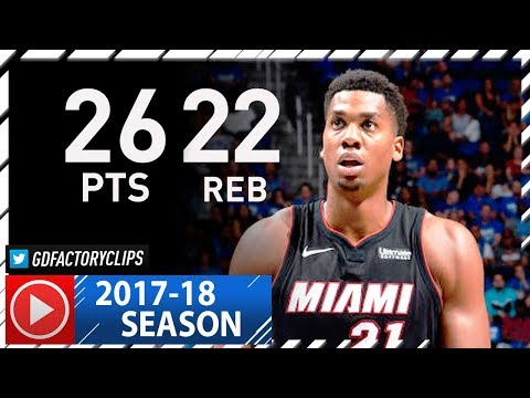 Hassan Whiteside Full Highlights vs Magic (2017.10.18) - 26 Pts, 22 Reb