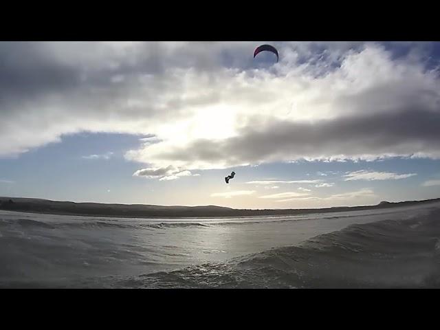 Kite surfing Scotland belhaven 17.10.18