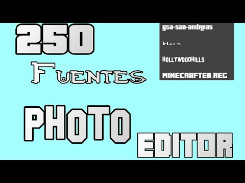 250 Fuentes Para Photo Editor/ Minecraft, Hollywood, GTA SA, Halo Etc/ Sedano Movie