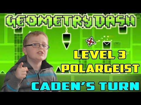 Geometry Dash : Gameplay Part 2 Level 3 - Polargeist (Caden