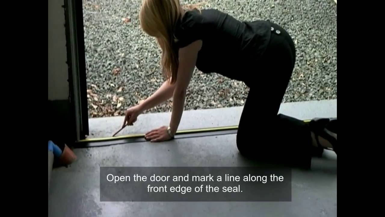 Weather Stop Floor Threshold Seal Fitting Instructions Youtube