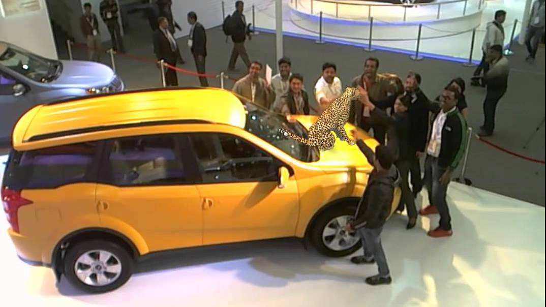 Mahindra XUV500 Augmented Reality At Auto Expo 2012