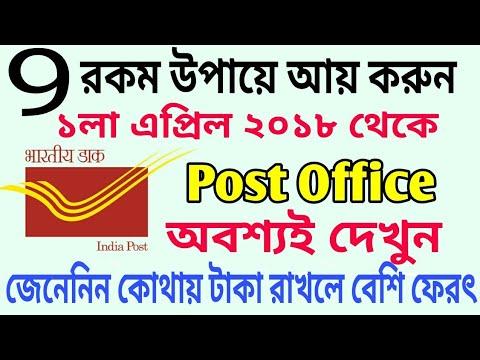 Big Updates Post Office 9 Schemes in 1st April 2018 | PO Modify Facilities by Narendra Modi Govt