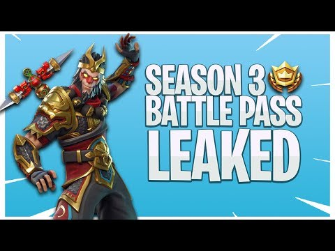 *NEW* LEGENDARY MONKEY KING SKIN! BATTLE PASS SEASON 3 LEAKED?! In Fortnite: Battle Royale