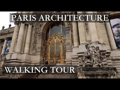 Paris Architecture Walking Tour 4k Video GoPro Documentary