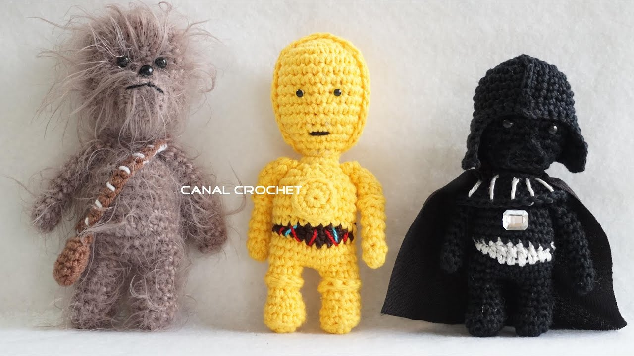 Amigurumi Snowman Pattern : star wars 1 amigurumis tutorial - YouTube