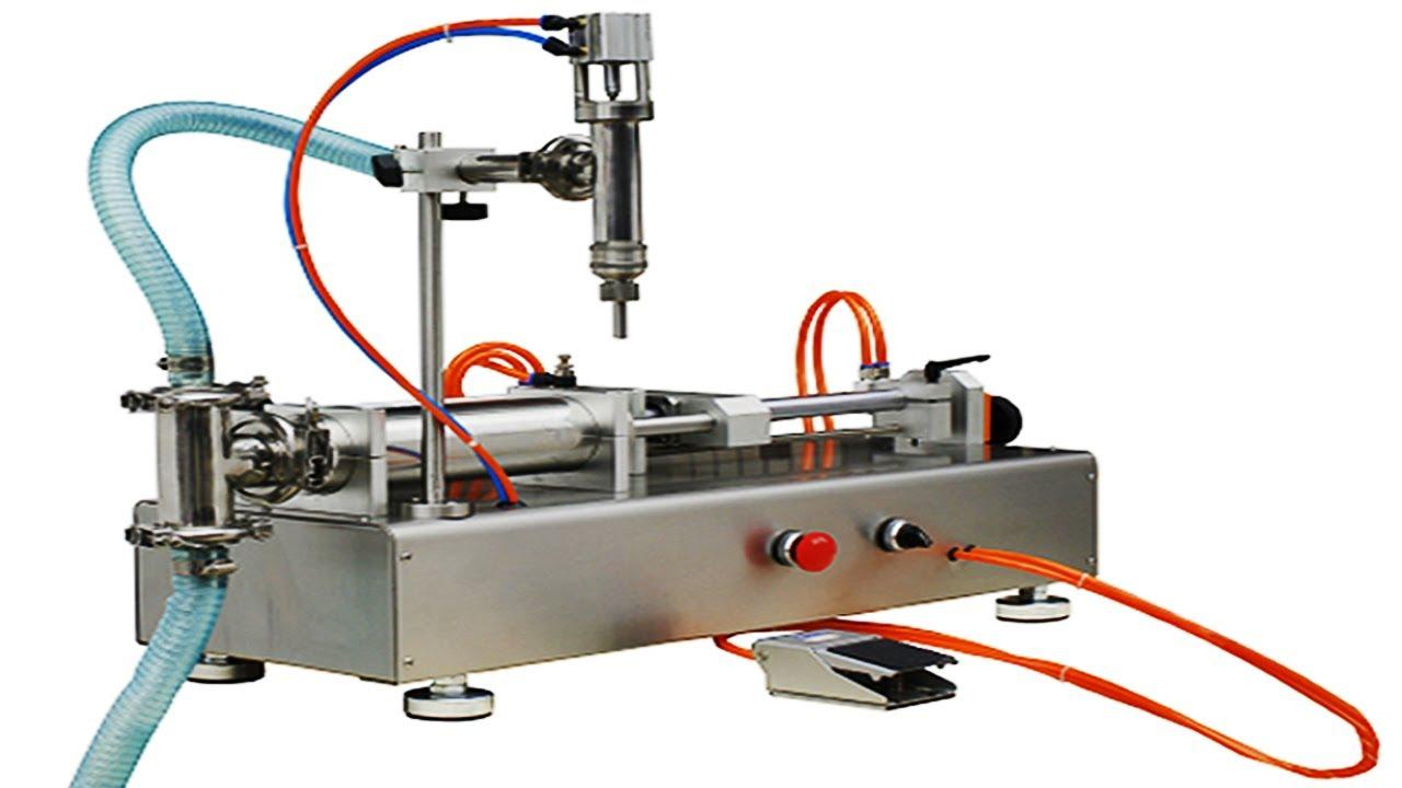 Handheld Semi Auto Cream Liquid Filling Machine Horizontal