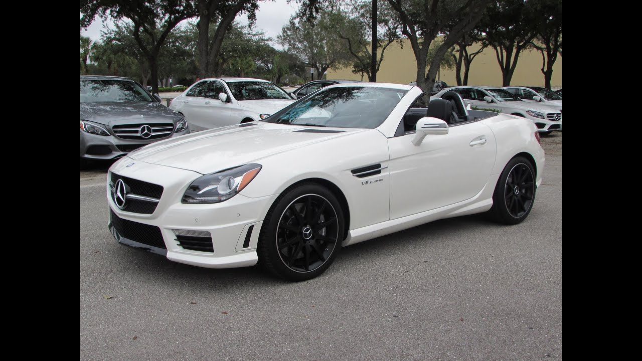 2015 mercedes benz slk55 amg start up exhaust and in depth review youtube