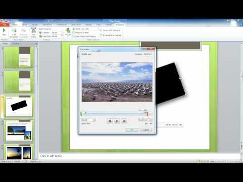 วีดีโอแนะนำการตัดต่อวีดีโอใน PowerPoint 2010