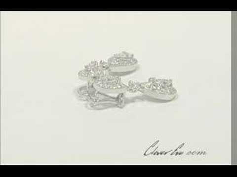 Double Dangle Diamond Earrings in 18k White Gold (2.70 ct.)