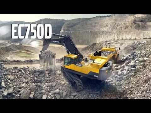 Volvo EC750D Crawler Excavator Promotional Video