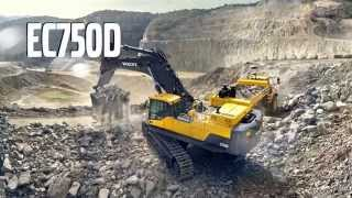 Volvo EC750D Crawler Excavator promotional video thumbnail