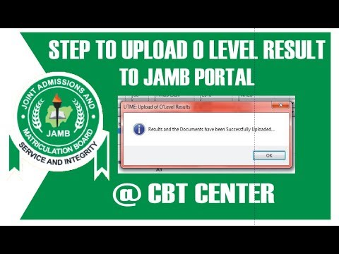 How to Upload WAEC Result to Jamb Website 2019