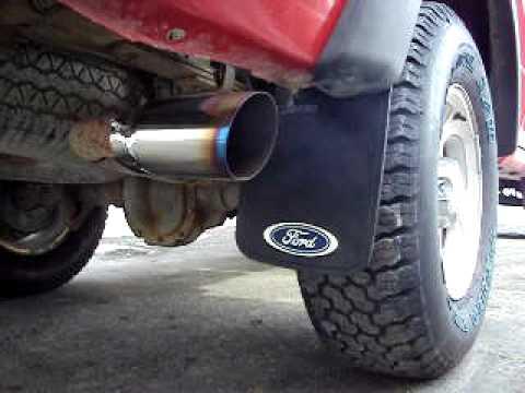 Ford Ranger Exhaust Tip >> 2001 Ford Ranger Magnaflow Muffler Youtube