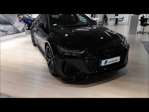 FULL BLACK  New 2020 Audi RS7 600PS  (walkaround)