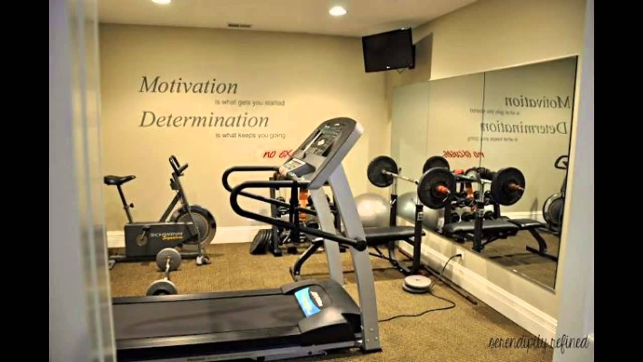 Basement Home Gym Design And Decorations   YouTube