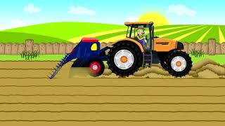 Tractor For Kids Combine-harvester | Fairy Tales - Maize | Farm Work
