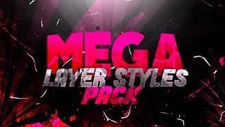 FREE GFX: 100 Subscriber MEGA Layer Styles Pack download + how to edit!