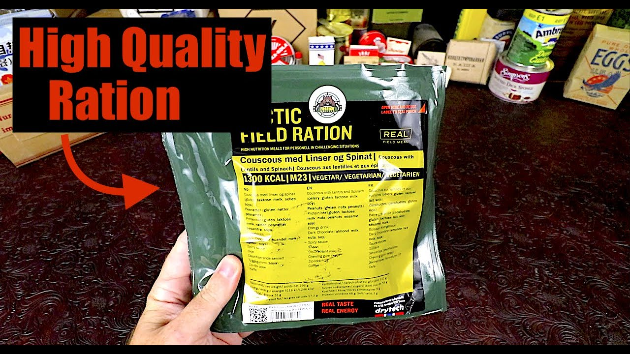 MRE Review !!! Norway Military Arctic Field Ration Spinach Couscous