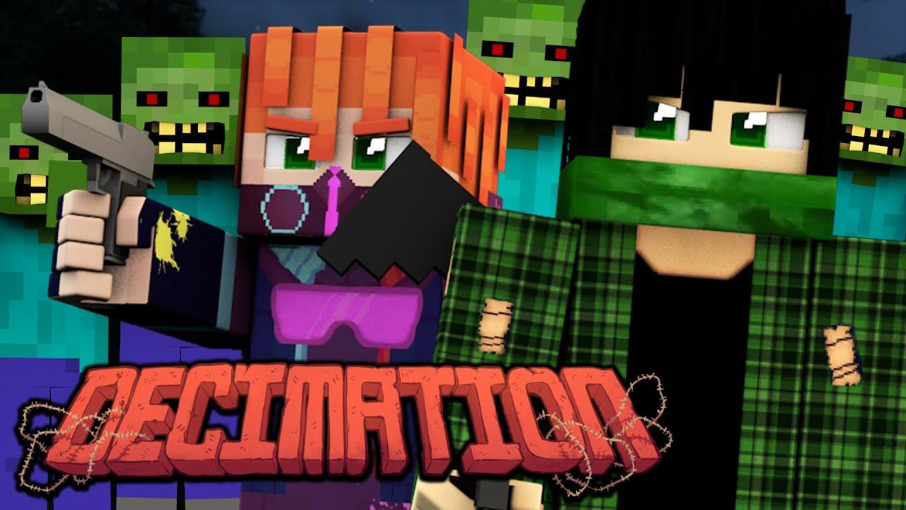 THE ZOMBIE APOCALYPSE!  DecimationZ  EP 12 (Minecraft Walking Dead  Roleplay)