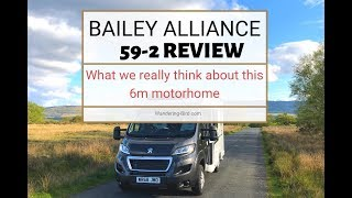 We review the bailey alliance 59-2 (sub-6m) motorhome for weekend- just two adults and a dog. it's bit of change from our usual 7.9m motorhome!! afte...