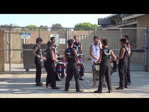 Blue Devils B corps snares 2017 in the lot at Bellflower 07/16/2017