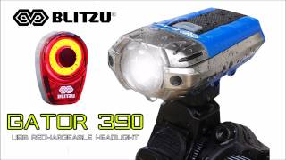 The Best USB Rechargeable Bike Light Set - Blitzu Gator 390 Headlight and Tail Light Combo