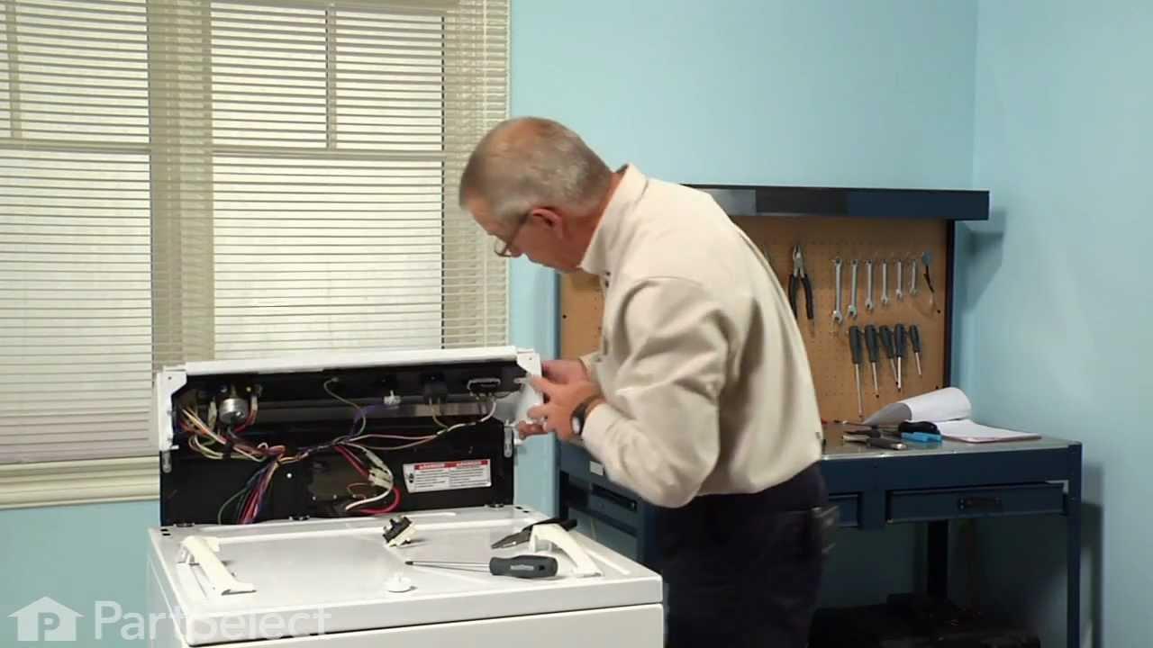 Dryer Repair Replacing the PushtoStart Switch