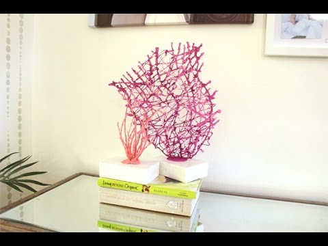 DIY Coral Sculpture Decor