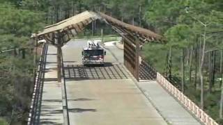 Vehicular Timber Bridge Construction With Trestle By Bridge Builders Usa, Inc.