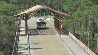 Vehicular Timber Bridge Construction With Trestle By Bridge Builders Usa, Inc.
