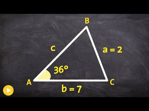 Learn to determine when there is 1, 2 or no triangle