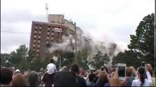 Mankato Gage Towers Implosion plus Slow Motion