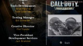 COD: Roads To Victory - PSP -  End Game Credits