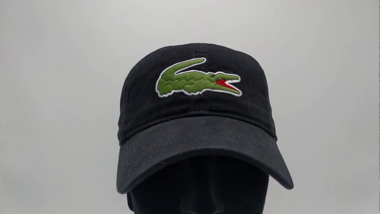 834898bc Lacoste pet - Big Croc Gabardine - noir black - €44,95 - GRATIS Verzending  - CapKopen.nl