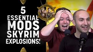 Skyrim Special Edition Mods - 5 Essential XBOX ONE Mods - SLOW MO EXPLOSIONS!